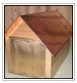Cedar Mail Box Copper Roof