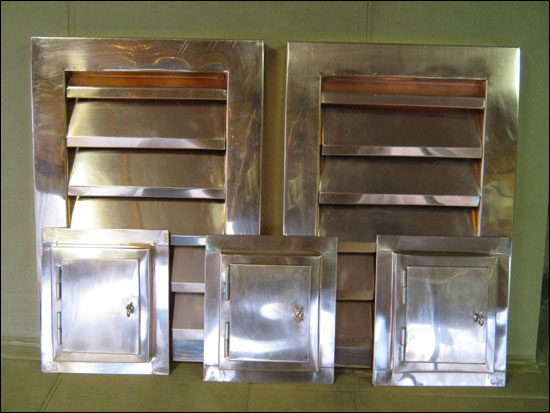 copper vents copper access box custom made dryer vents